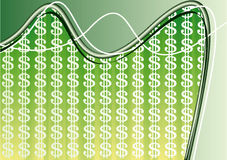 Dollar background composition. Green background composition with dollar signs. Vector illustration Royalty Free Stock Photo