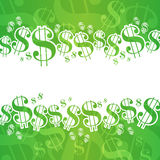 Dollar Background. A financial themed background with dollar signs Royalty Free Stock Photography