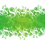 Dollar Background. A financial themed background with dollar signs Stock Photo