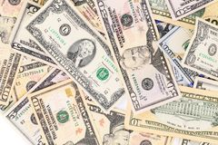 Dollar background. Located on the whole background stock images