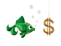Dollar bait. Stock Images