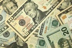 Dollar bakgrund Arkivfoton