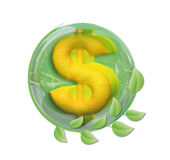 Dollar in a ball Royalty Free Stock Photography