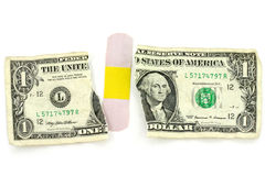 Dollar and bandage Stock Images