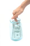 Dollar and bank Stock Photography