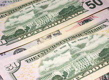 Dollar bank bills background Stock Image