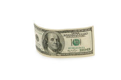 Dollar bank note isolated. On the white Stock Photos