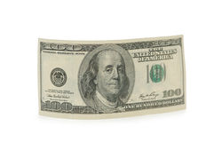 Dollar bank note isolated on the white. Dollar bank  note isolated on the white Royalty Free Stock Photo