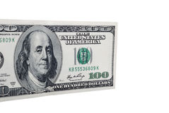 Dollar bank note money isolated closeup Royalty Free Stock Photos
