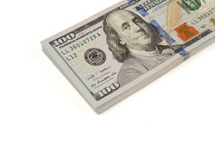 Dollar bank note money isolated closeup Stock Photos