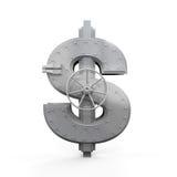 Dollar Bank Safe. On white background. 3D render Stock Images