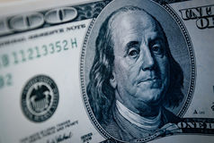 100 dollar banknote with Benjamin Franklin Stock Photography