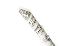 Dollar banknote in graduated test tube, the cost of medical health Stock Photography