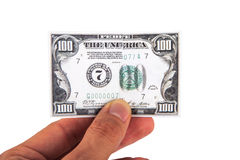 Dollar Banknote on Hand Royalty Free Stock Photo