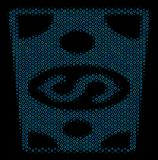 Dollar Banknote Mosaic Icon of Halftone Spheres. Halftone Dollar banknote composition icon of spheric bubbles in blue color hues on a black background. Vector Stock Photos