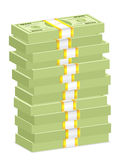 Dollar banknote stacks Royalty Free Stock Photography