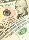 10 dollar banknote Royalty Free Stock Photography