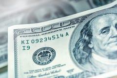 Dollar Banknoten Amerikanische Dollar Bargeld- Hundert Dollarbanknoten Stockbild