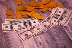 Dollar Banknoten auf Hintergrund Lizenzfreie Stockfotografie
