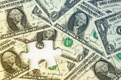 Dollar-Banknoten-Puzzlespiel Lizenzfreies Stockfoto