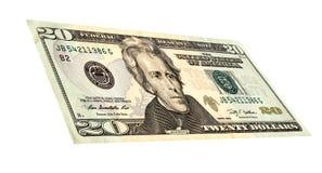 Dollar Banknoten Zwanzig-Dollar-Banknote Lizenzfreie Stockbilder