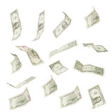 Dollar banknotes. Variations of flying/tumbling banknotes isolated on white - other files for more variations available Stock Image
