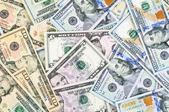 Dollar banknotes as a background Stock Image