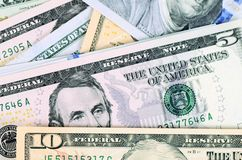 Dollar banknotes as a background Stock Photography