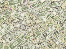The dollar banknotes as a background Stock Images