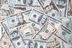 Dollar banknotes background Stock Photos