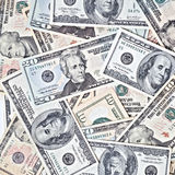 Dollar banknotes background Stock Images