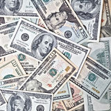 Dollar banknotes background Royalty Free Stock Photos