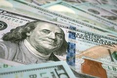 100 Dollar banknotes background. 3D rendering stock illustration