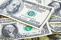 Dollar banknotes background stock photography