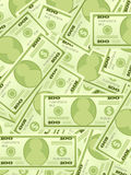 Dollar banknotes background vertical. Background from a one hundred dollar banknotes Stock Photos