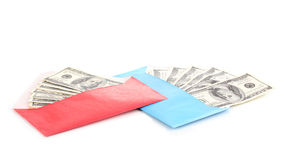 Dollar banknotes in envelope Stock Photo