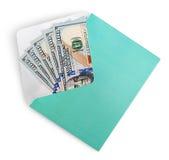 Dollar banknotes in envelope Stock Image