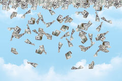 Dollar Banknotes Falling Royalty Free Stock Photos