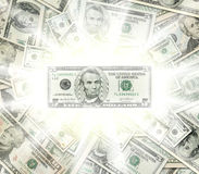 Dollar banknotes glowing concept Stock Photo