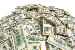 Dollar banknotes heap Stock Images