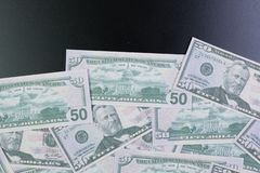 50 dollar banknotes image close up stock photos