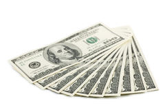 Dollar banknotes isolated Royalty Free Stock Photos