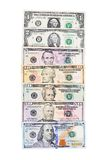 Dollar banknotes  isolated on white background Stock Images