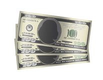 100 dollar banknotes money on white background. A 100 dollar banknotes money on white background Royalty Free Illustration