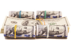 Dollar banknotes roll Stock Image