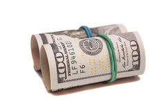 Dollar banknotes roll isolated Stock Photo