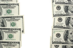 Dollar banknotes with space. Royalty Free Stock Photos