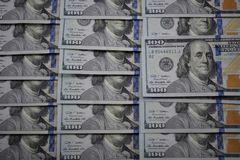 100 dollar banknotes of the usa Royalty Free Stock Photos