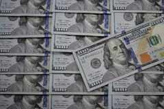 100 dollar banknotes of the usa Royalty Free Stock Images