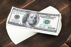 Dollar banks note money Stock Image